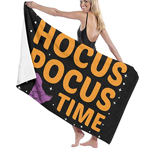 ENZOOIHUI Its Hocus Pocus Time Witches The Bath Towel Toalla de Playa 80X130 Cm
