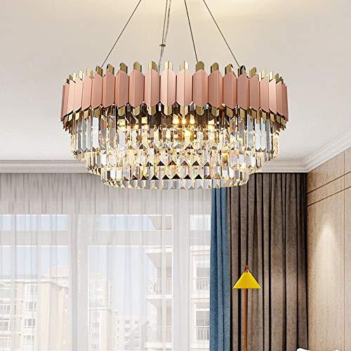 no-branded Sygjal 60 * 60 * 35cm Europea araña de Cristal Rosado Personalizado Moda Arte Moderno Villa Casa