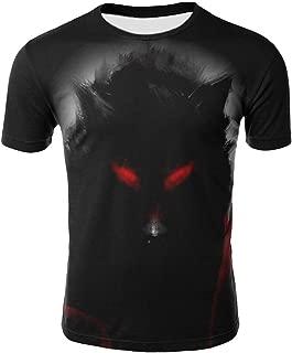 Men Fashion 3D Wolf Printed T-Shirt