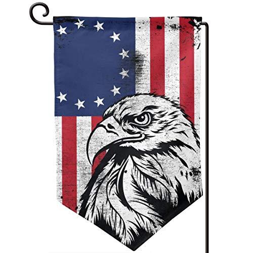 IDNUYIA Garden Flag Vertical, Seasonal Spring Holiday Outdoor Decoration 12.5 X 18 Inch Star American Flag Eagle