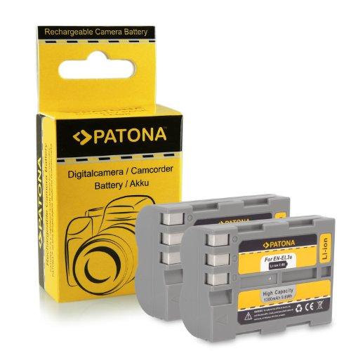 2x Batería EN-EL3E para Nikon D50 | D70s | D80 | D90 | D200 | D300 | D300S | D700