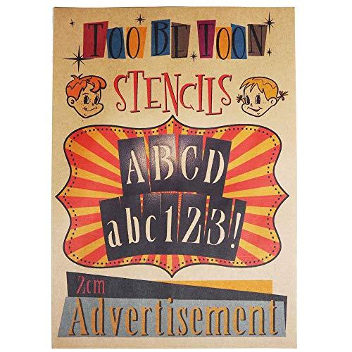 ステンシルシート アルファベット大文字&数字セット Advertisement (2cm)