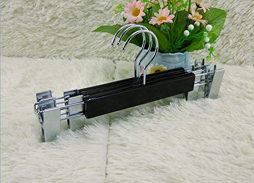 Zhaoyangeng 2 st. Robuuste en duurzame kleerhanger van hoogwaardig parelnikkel voor broeken/rokken, met 2 roestvrijstalen klemmen