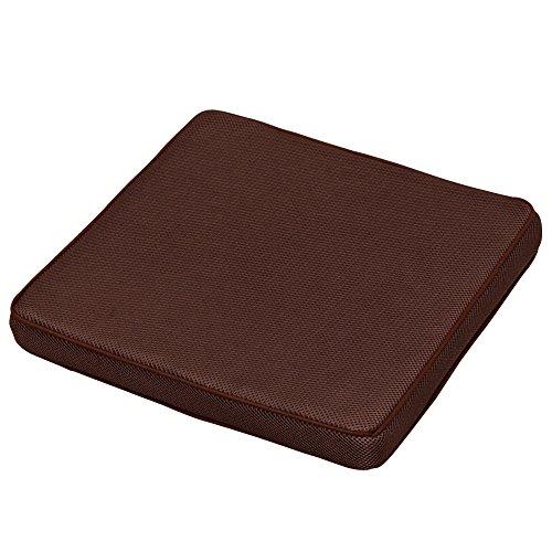 アイリスオーヤマ エアリー シートクッション 高反発 通気性 洗える 抗菌防臭 ブラウン CARS-4040