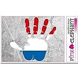 pinkelephant Aufkleber / Autoaufkleber - Niederlande - rechte Hand - Fahne - 10 cm x 9,5 cm - finger print palm slap handabdruck mano