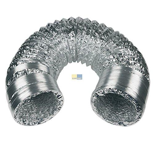 Europart 10028157 UNIVERSAL 5m Abluft Schlauch Abluftschlauch Lüftung ALU Aluminium Flexrohr flexibel Anschluss 125mm schwere Ausführung mit Stahlspirale für u.a. Trockner Dunstabzugshaube Klimagerät
