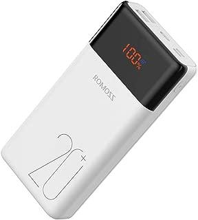 モバイルバッテリー 20000mah 大容量 ROMOSS 非常用 USB-C入出力対応 最大18W出力 PD対応/QC対応 PSE認証済み 携帯充電器 iPhone Android iPad 対応 LT20PS+