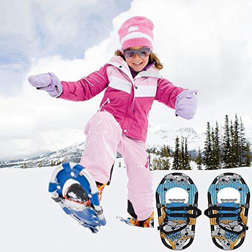 XIONGDA Scarpe da Passeggio Innevate da Passeggio Leggero/Bigfoot per Bambini, Racchette da Neve Universali per Bambini, Adatto per I Genitori Invernali-Bambini