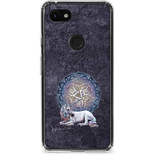 Skinit Clear Phone Case Compatible with Google Pixel 3a XL - Originally Designed Celtic Unicorn Design