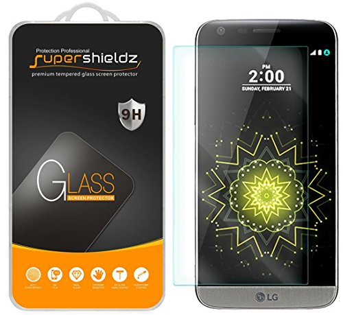 (2 Pack) Supershieldz Designed for LG G5 Tempered Glass Screen Protector Anti Scratch, Bubble Free