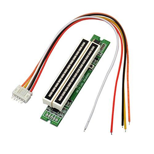 Dasorende Dual 12 Pegel Anzeige VU Meter Stereo Verst?Rker Platine Einstellbare Licht Geschwindigkeit Platine mit AGC Mode DIY Kits