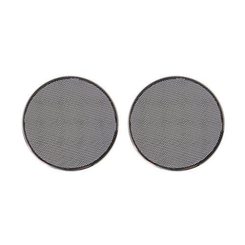 SimpleLife 1/2/3/4/5/6,5 inch luidspreker grills cover case rond grill bescherming luidspreker decoratieve cirkel audio accessoires-ABS, zwart