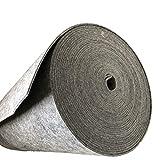 Fieltro, felpudo, 100% poliéster, por metro, ancho 160 cm, color gris, Fliz poliéster, gris, 6 mm
