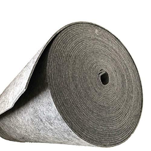 Esterilla de fieltro de 100 % poliéster, por metros, 160 cm de ancho, color gris, Fliz poliéster, gris, 6 mm