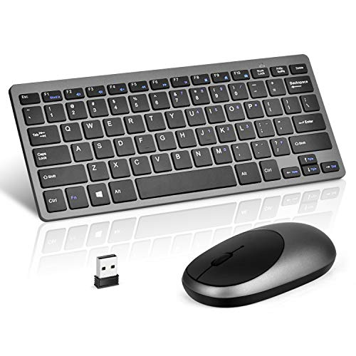 White Wireless Keyboard and Mouse Combo,【Full Size Chiclet