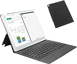 for iPad Pro 12.9 Keyboard Case,Slim Lightweigh Folio Shell Protective Stand Leather Cover for iPad Pro 12.9 inch 1st & 2nd Generation(2015 & 2017 Black