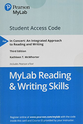 MyLab Reading & Writing Skills with Pearson eText -- Standalone Access Card -- for In Concert: An Integrated Approach to Reading and Writing