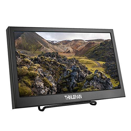 Thinlerain Monitor portátil HDMI VGA de 11,6 Pulgadas, Monitor LED 1920 x 1080P IPS para Raspberry Pi, Xbox 360, PS3, PS4, Windows 7 8 10, cámara