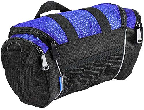 Roswheel Allnice 11494 Bike Handlebar Bag 5L Reflective Bicycle Frame Pouch Cycling Handlebar Storage for Road MTB Outdoor