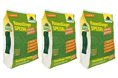 Preisvergleich Produktbild Neudorff RasenDünger SPEZIAL mooslos glücklich 15 kg - Für dichten und natürlich grünen Rasen