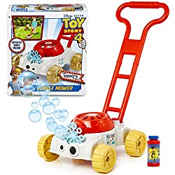 ✅ TOY STORY 4 BUBBLE MOWER: get the kids playing outdoors with Forky! The mower has been designed to include a little reservoir for the soapy solution. Fill up, press the power button and watch the bubbles come out as you pretend to mow the lawn. Hun...