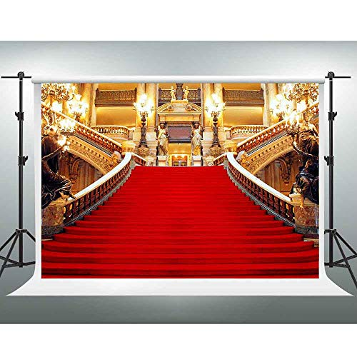 Red Carpet Background,Golden Palace Gorgeous European Hall Photo Background,10x7ft,Photo Studio Props LSGE652