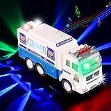 Xruison Juguetes de Coche de Policía Grande Coche de Policía Vehiculo con 4D LED Luz y Sirena...