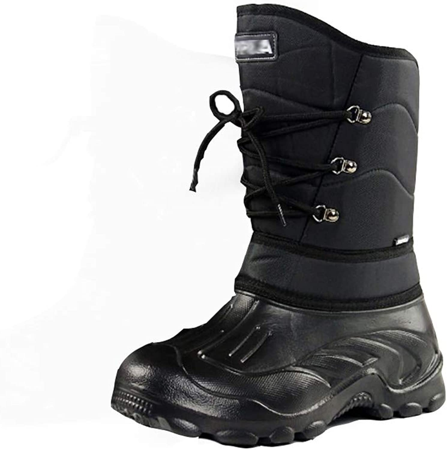 SMILINGGIRL Men's Snow Boots in The Tube - Outdoor Skiing Warm and Comfortable, Waterproof Winter Fishing shoes