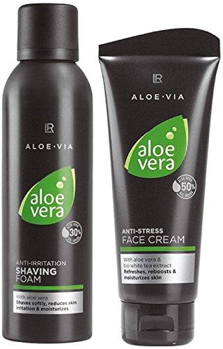 LR ALOE VIA Aloe Vera Men Gesichtspflege-Set (Rasierschaum und Gesichtscreme)