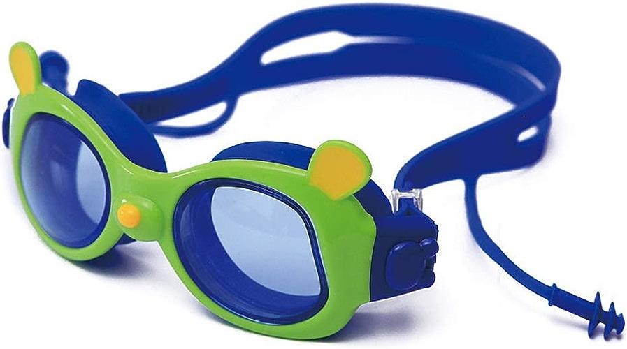 Ogquaton Lunettes de natation Lunettes de natation pour enfants imperméables et anti-buée pour Garçons et filles avec bouchons d'oreilles One