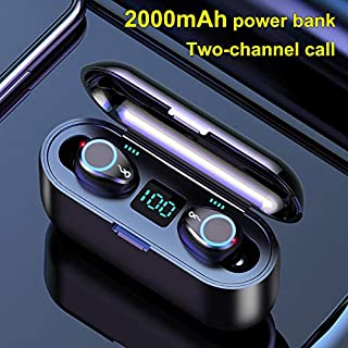 FairOnly F9 Wireless Earphone Blueteeth V5.0 Handsfree Earbuds 8D Stereo Sound In-ear Headsets With 2000mAh Power Bank Electronics