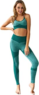 XFKLJ Sports Bra Yoga Pants Women Seamless Sportswear High Waist Yoga Set Fitness Clothing Gym Running Workout Sports Bra+...