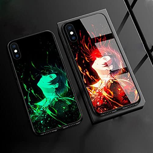 Carcasa de Telefono,Funda Protectora para iPhone Funda para Teléfono 3D Carcasa de Vidrio Templado Borde Suave Brillo Nocturno Juego Touken Ranbu Onlinet Serie (Compatible con iPhone 12 Pro)