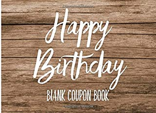 Happy Birthday: Blank Coupon Book