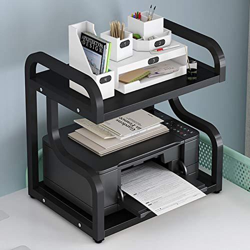 Soporte Impresora, Mesa Impresora Estante Almacenamiento Doble Organizador Estante Impresora para Oficina Soporte Impresora con Marco Estable Gabinete Impresora Oficina En Casa,03