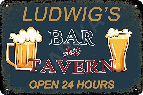 Tarika Ludwig's Bar and Tavern Open 24 Hour Cartel de Hierro Pintura...