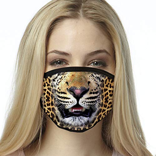 Leopard Face Mask, face covering, reusable Made in the USA