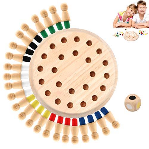 Hoiny Holz Memory Match Stick Schach Spielzeug, 1 Set Family Brettspiele Hölzerne Gedächtnisspiele,Gedächtnis Schach für Kinder Und Erwachsene Vorschulbildung