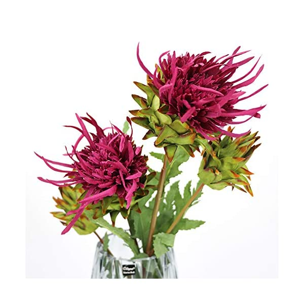 LSME 2 Pcs Artificial King Protea Cynaroides Silk Wedding Bouquet Handwork Home Decor