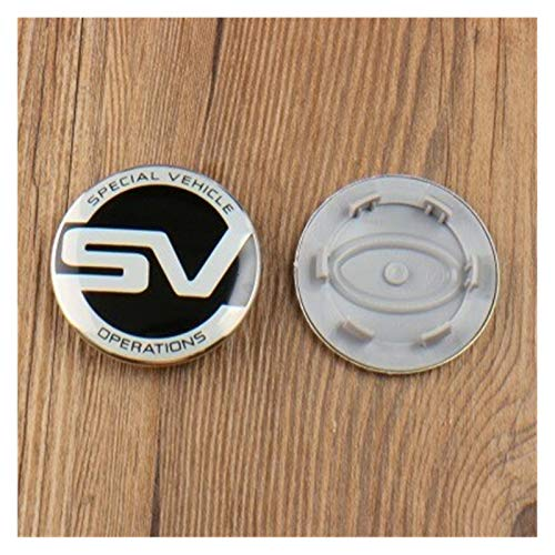 xy Tapas para Llantas de Coche 4X 63mm SV Reino Unido Bandera Centro de Ruedas Capas de Cubierta Emblema Compatible con Land Rover Range Rover LR2 LR3 LR4 Rango Land Rover Sport 2.5 Pulgadas Emblema