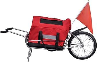 vidaXL Remolque de Bicicleta con Bolsa de Almacenamiento - una Rueda