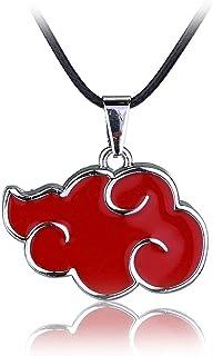 Naruto Akatsuki Cosplay Rote Wolke Anhänger Halskette
