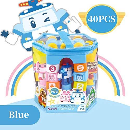 Pictury 40PCS Bausteine Verformte Polizeiauto Animation Kinder Spielzeug Roboter Transformation Spielzeug Geschenk Für Kinder