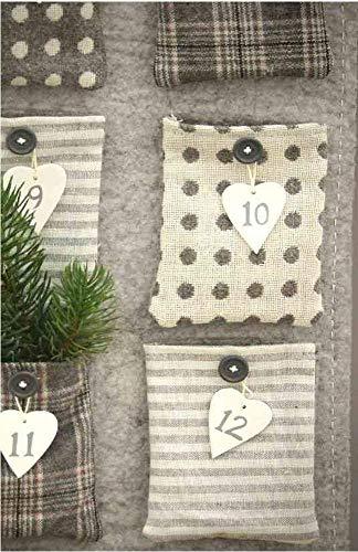 Linoows Advent Calendar,Christmas Calendar,Wall Calendar,Filz-Kalender for Fill