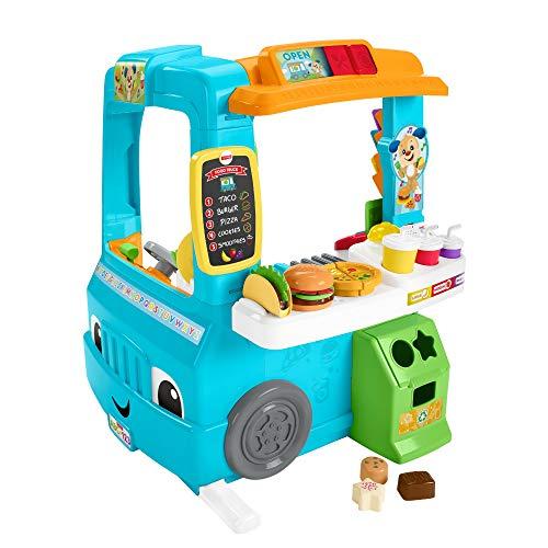 Fisher-Price GHJ07 - Lernspaß Food Truck dreisprachig (Deutsch, Spanisch, Französisch) mit Küche und Lernspiele, Spielzeug ab 18 Monaten
