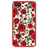 Hapdey Coque pour [ Bq Aquaris E5s - E5 4G ] Dessin [ Motif de Roses Rouges ] Etui en Silicone...