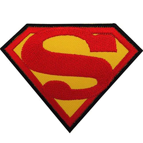 Superman-Aufnäher zum Aufnähen oder Aufbügeln, bestickt, Logo, Symbol, Film, Spielzeug
