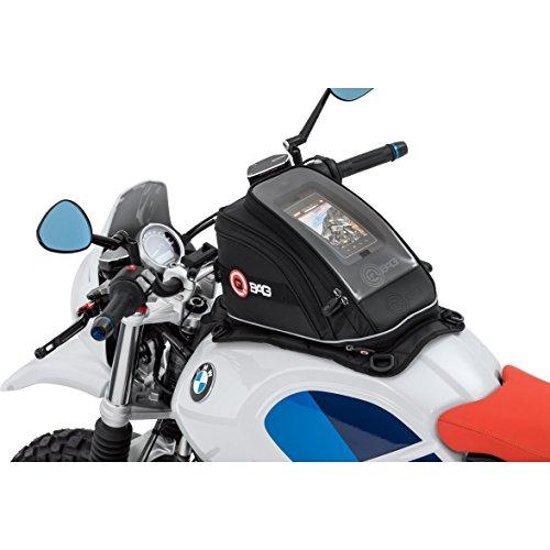 QBag Tankrucksack Motorrad Magnet Tanktasche Motorrad Tankrucksack 11 Magnet/Riemen, formstabil, reflektierende Keder, riesiges Hauptfach, Doppel – Magnete, Schwarz