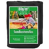 Xabian Sandkastenvlies 2m x 2m schwarz 80g/m² I Schutzvlies für Sandkasten gegen Unkraut I Ideal als Sandkastenfolie und Unterlage gegen Unkraut & Vermischen mit dem Untergrund