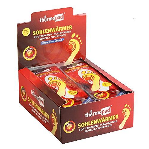 Thermopad Sohlen-Wärmer | kuschlig warme Fußwärmer | sofort einsatzbereit | 8 Stunden lang 37°C | einfache Anwendung wohltuender Wärme-Sohlen | selbstklebend | Größe L | 30 Paar